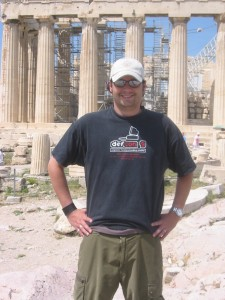 Me at the Acropolis (still with hat)