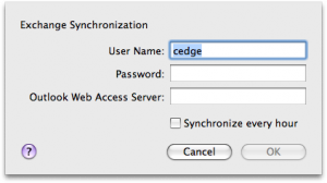 Exchange Sync Settings