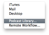 Exporting Podcast Episodes