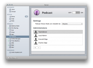 Setting Up The Podcast Service