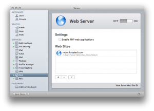 Enable the Web Server