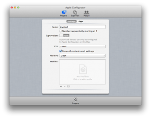 Preparing Devices in Apple Configurator