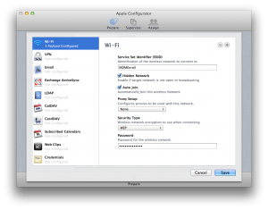 Adding Wireless Networks with Apple Configurator
