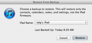 Choose iTunes Restore Device
