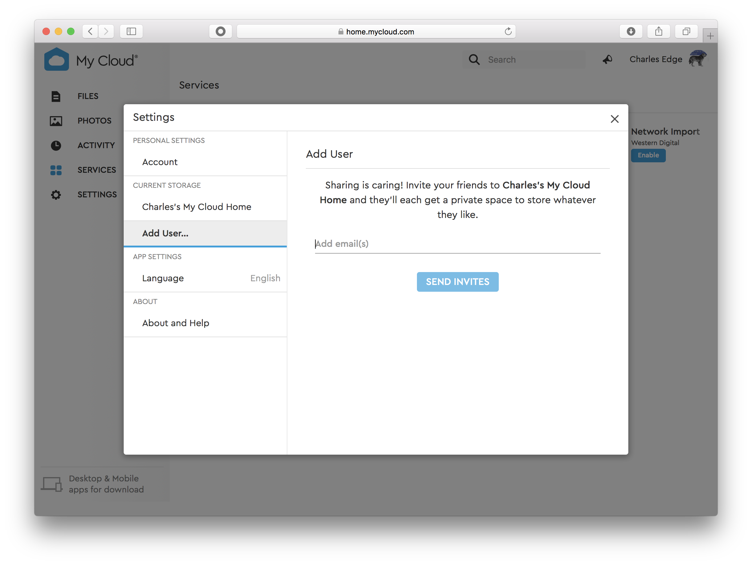 Replace Time Machine Server on macOS Server with WD's MyCloud com