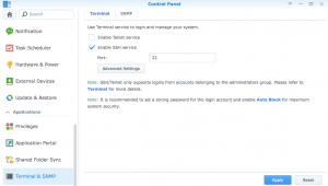 Enable SSH Access On A Synology - krypted
